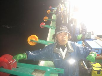小樽沖 イカ釣り